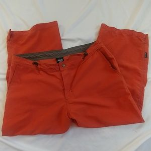Prana Cropped Capri Drawstring Hiking Pants Size L